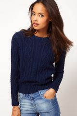 Asos Cable Jumper - Lyst