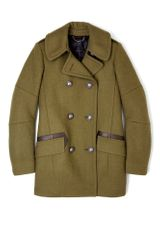 Belstaff Peat Chatham Wool Military Jacket in Green - Lyst