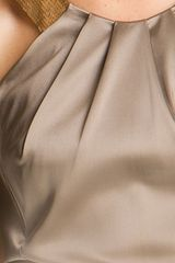 Calvin Klein Sequin Strap Satin Sheath Dress in Gray (oatmeal) - Lyst