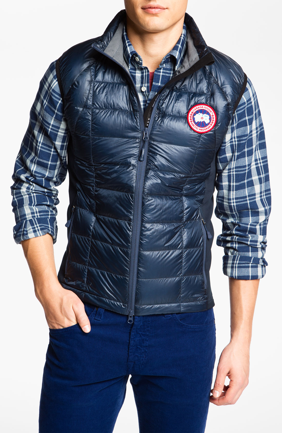 Canada Goose chateau parka sale 2016 - Canada goose 'hybridge' Gilet in Blue for Men (spirit) | Lyst