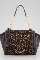Diane Von Furstenberg New Harper Charlotte Leopardprint Calf Hair Shoulder Bag - Lyst