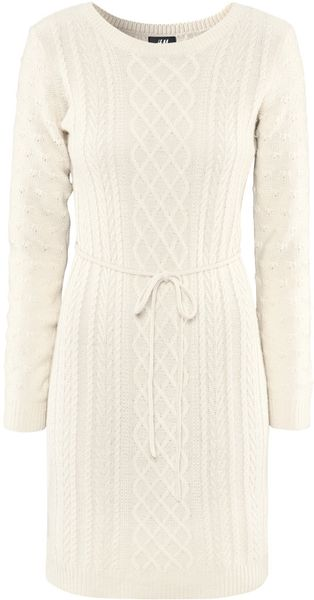 H&m Dress in Beige (natural) - Lyst
