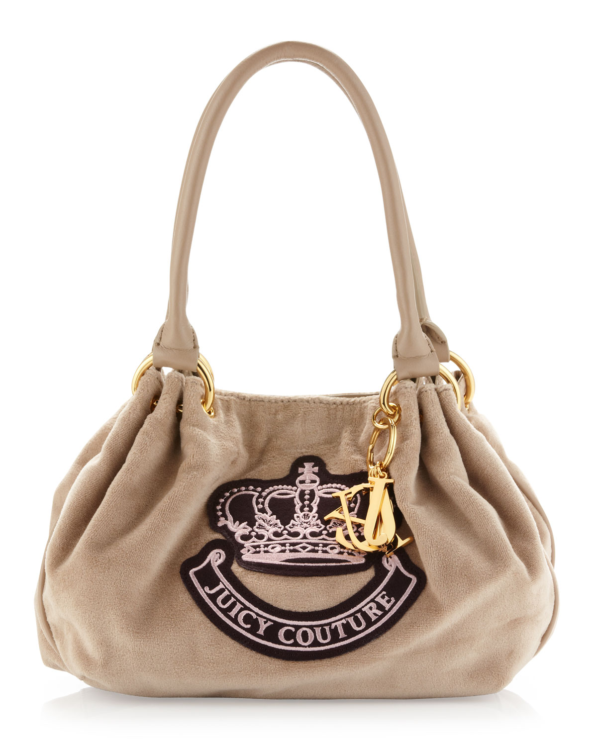 Juicy Couture Baby Fluffy Velour Bag Ancient In Beige