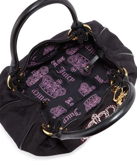 Juicy Couture Baby Fluffy Velour Bag Black In Black Lyst