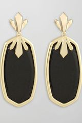 Kendra Scott Cushion Cabochon Earrings Green - Lyst