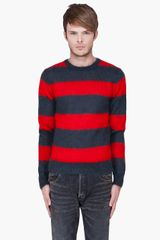 Marc By Marc Jacobs Striped Mohair Sweater - Lyst