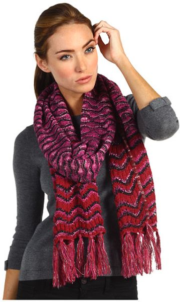 Missoni Hearts Asunder and Back Again Zigzag Scarf in Purple (p) - Lyst