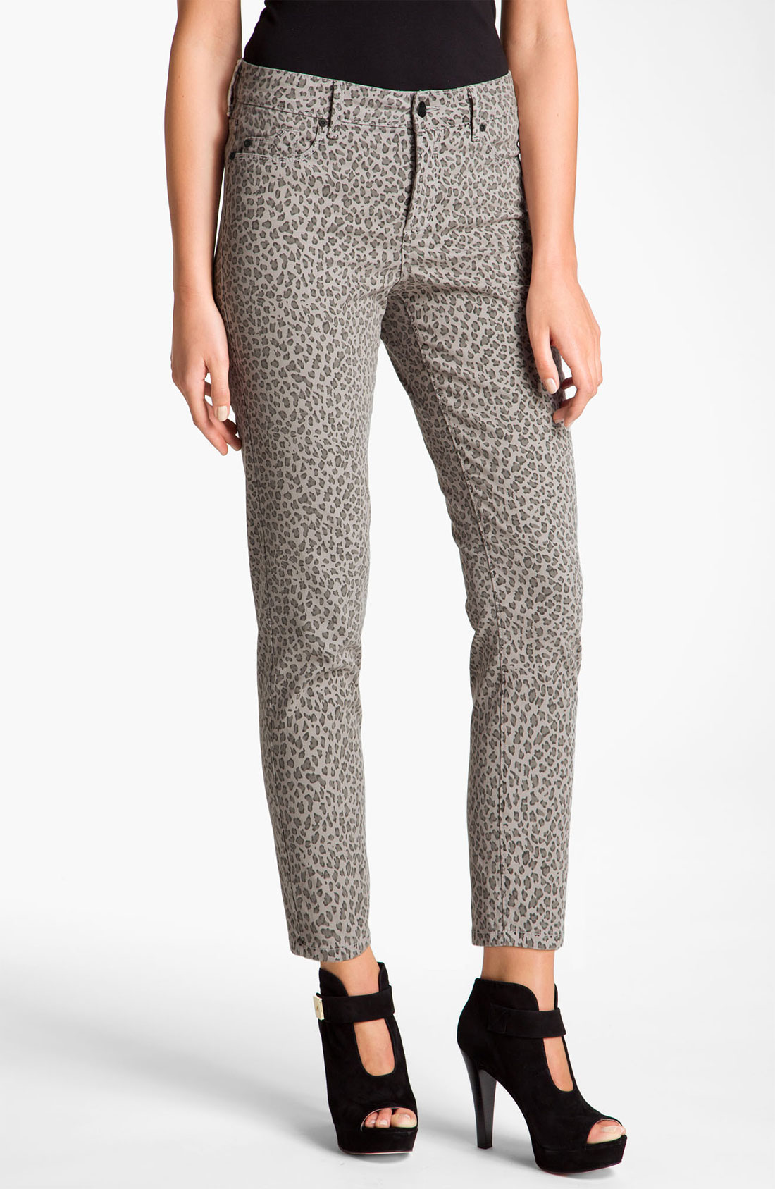 not your daughter 39 s jeans nydj alisha leopard print twill. Black Bedroom Furniture Sets. Home Design Ideas