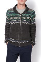 Original Penguin Shawl Neck Raglan Cardigan in Gray for Men (dark grey) - Lyst