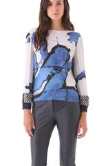Preen Painted Top in Blue - Lyst