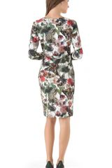 Preen Print Jersey Dress in Multicolor (ivory) - Lyst