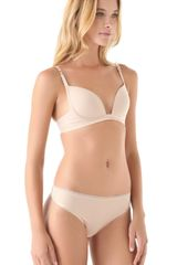Stella Mccartney Stella Smooth Supernatural Bra in Beige - Lyst