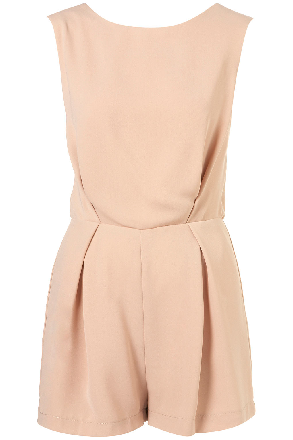 0279ed931b Lyst - TOPSHOP Lace Back Playsuit in Pink