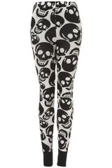 Topshop Smiley Skull Knit Leggings