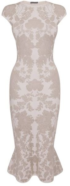 Alexander McQueen Ice Flower Blossom 3d Jacquard Pencil Dress - Lyst