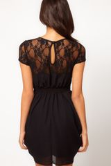 ASOS Collection Asos Tulip Dress with Lace Top - Lyst