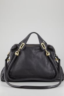 Chloé Paraty Shoulder Bag Black - Lyst