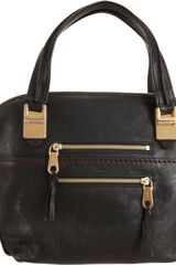 Chloé Medium Angie Bag in Black (gold) - Lyst