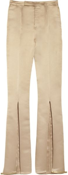 Esteban Cortazar Slitdetailed Duchess Satin Pants - Lyst