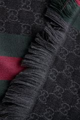 Gucci Print Scarf in Black for Men - Lyst