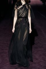 Gucci Sequined Tulle Gown in Purple (black) - Lyst