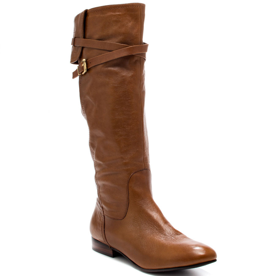 Women Brown Leather Boots - Boot Hto