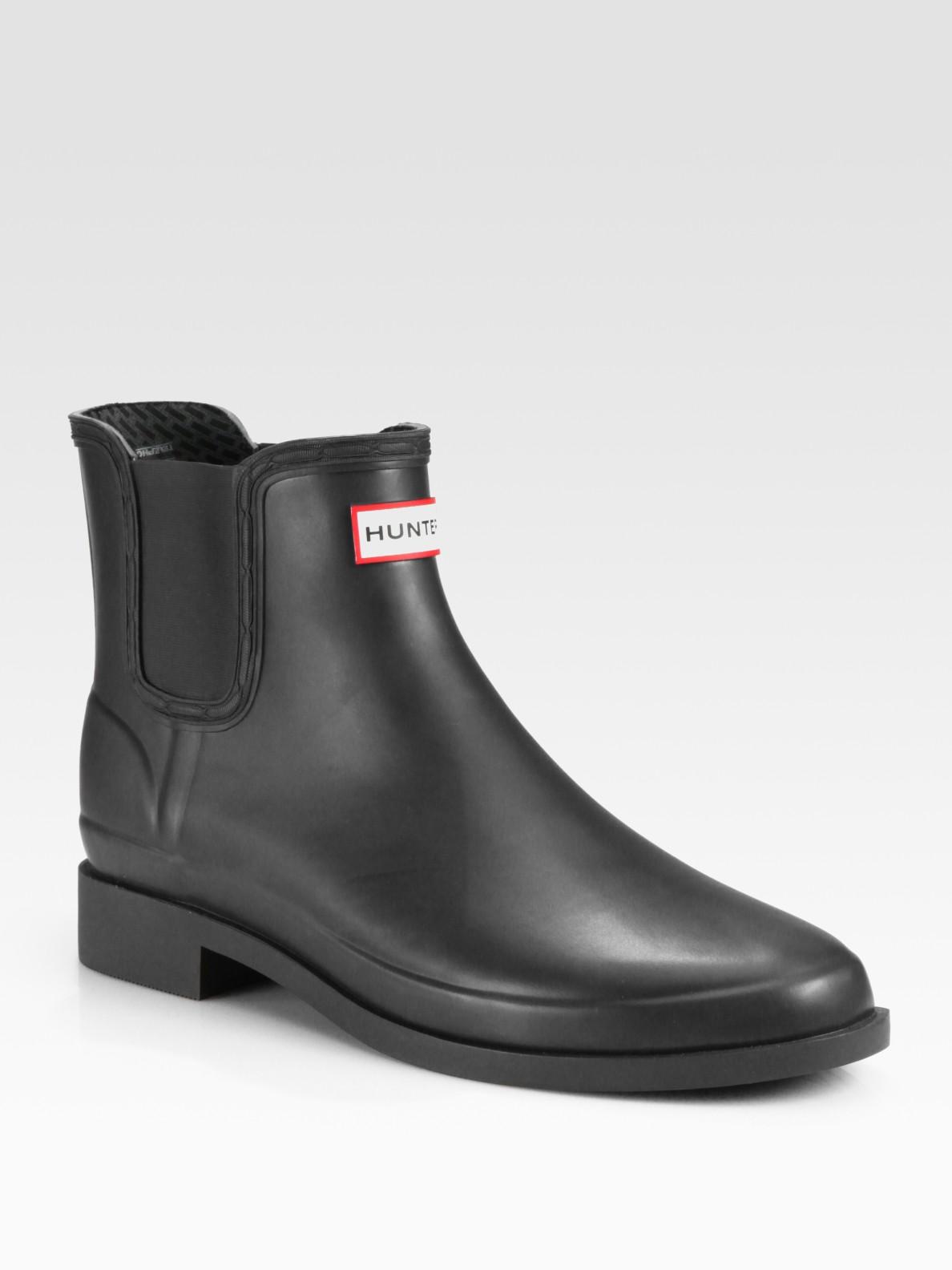 hunter chet rubber chelsea boot in black for men lyst. Black Bedroom Furniture Sets. Home Design Ideas