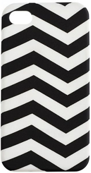 J.crew Printed Iphone 4 Case in White (black white)