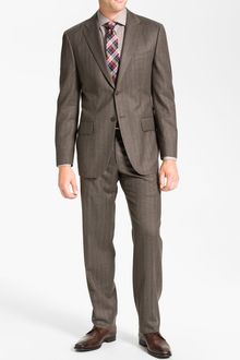 Joseph Abboud Profile Stripe Wool Suit - Lyst
