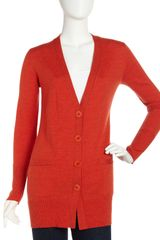 Lafayette 148 New York Long Jersey Cardigan Carrot - Lyst