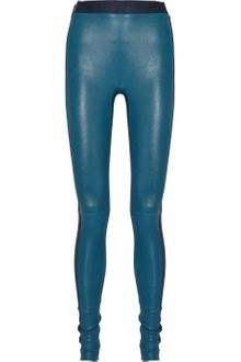 Les Chiffoniers Two-Tone Leather Leggings - Lyst