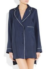 Marni Silk Pajama Shirt in Blue (navy) - Lyst