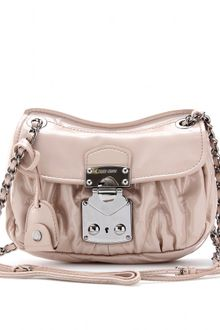 Miu Miu Patent Leather Matelassé Shoulder Bag - Lyst
