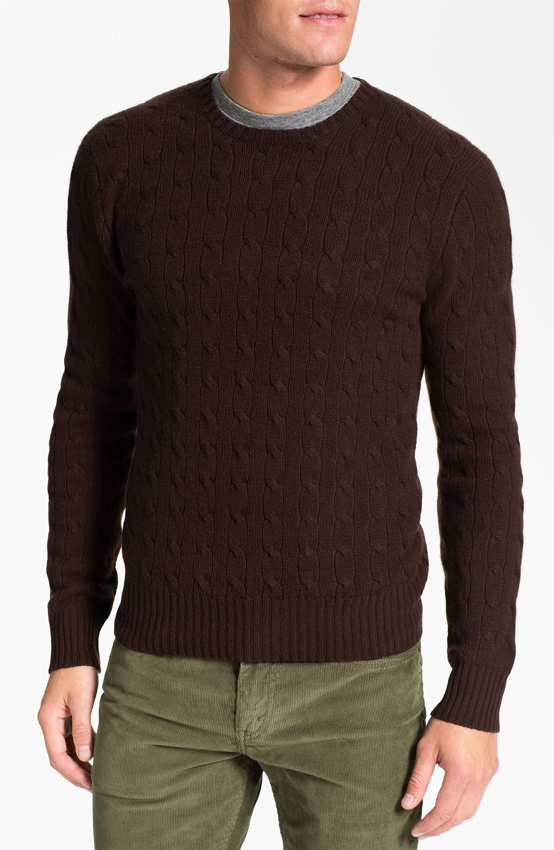 Brown Cashmere Sweater Her Sweater