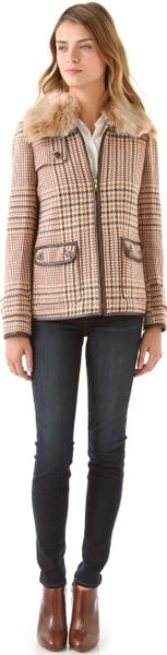 Tory Burch Jasmine Coat in Beige (camel) - Lyst
