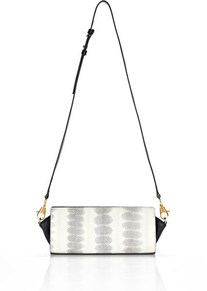 Alexander Wang Pelican Satchel in Ion Laminated Snake with Gold in White (ion) - Lyst