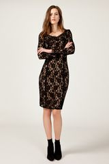 Alice By Temperley Kitty Pencil Dress in Black - Lyst