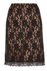 Alice By Temperley Kitty Pencil Skirt in Beige (black) - Lyst