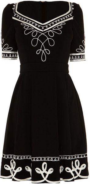 Alice By Temperley Mini Blake Dress in Black