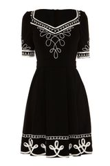 Alice By Temperley Mini Blake Dress in Black - Lyst