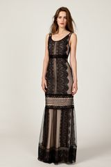 Alice By Temperley Long Lottie Dress in Black (black mix) - Lyst