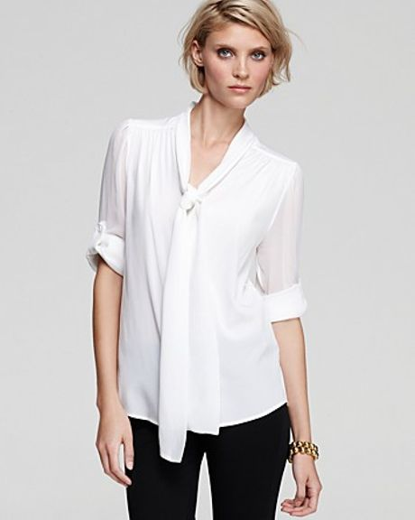 Alice And Olivia Arie Tie Neck Blouse 68