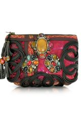 Antik Batik Amarilo Embroidered Pouch Wallet - Lyst