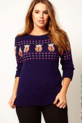 Asos Curve Exclusive Owl Jumper - Lyst