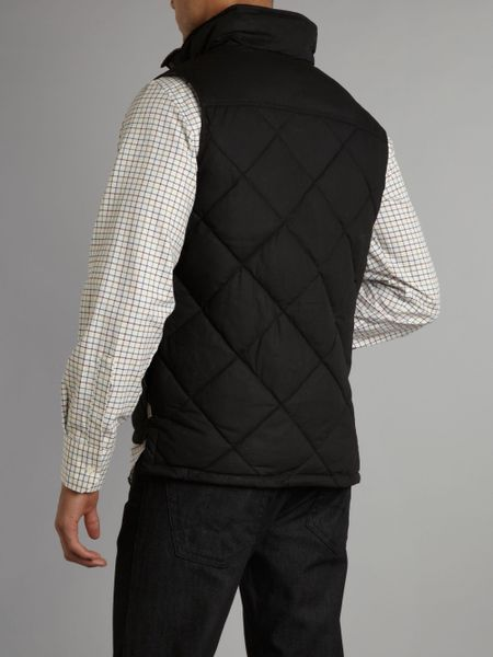 Barbour Down Wax Gilet In Black For Men Lyst