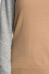 Boss Black Colorblock Cashmere Sweater in Gray (fresh biscuit fantasy) - Lyst