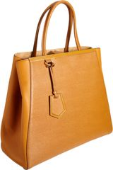 Fendi Large 2jours Tote in Brown (gold) - Lyst