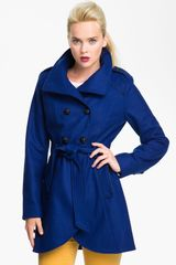Guess Belted Double Breasted Coat - Lyst