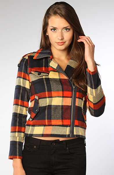 Hurley The Quiet Rebel Plaid Jacket In Pinata Red In Red