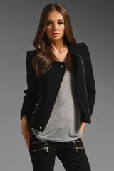 Iro Kanoa Leather Trim Jacket - Lyst